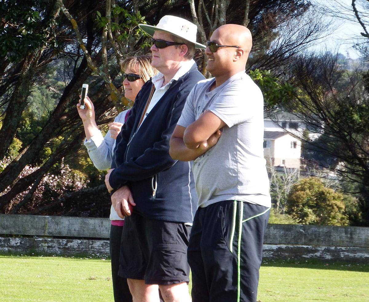 Coaches Steve Ruffell and Shaf Asif